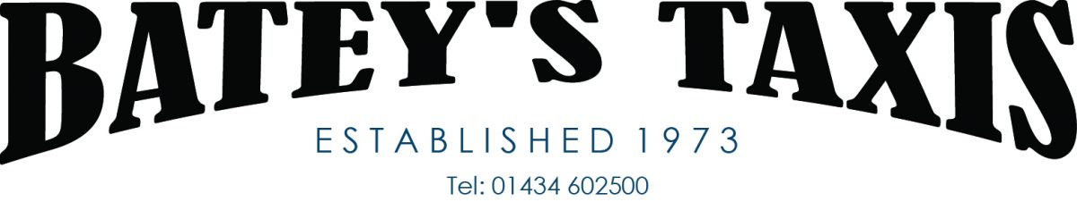 Logo for bateys taxis hexham